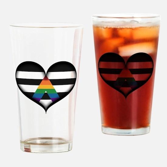 LGBT Ally Heart Drinking Glass