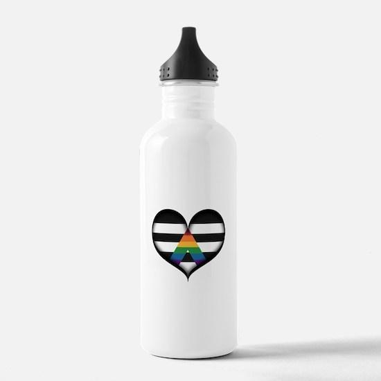LGBT Ally Heart Water Bottle