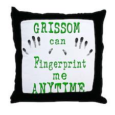 GRISSOM FINGERPRINTS Throw Pillow