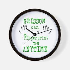 GRISSOM FINGERPRINTS Wall Clock