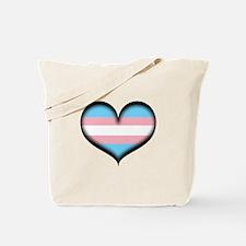 Transgender Heart Tote Bag