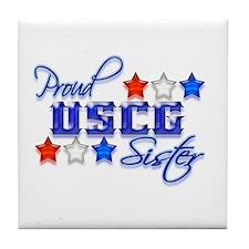 USCG Sister Tile Coaster