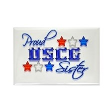 USCG Sister Rectangle Magnet (100 pack)