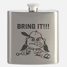 Mean Softball Player Flask