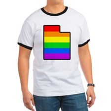 Rainbow Striped State T