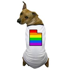 Rainbow Striped State Dog T-Shirt