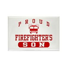 Proud Firefighter's Son Rectangle Magnet