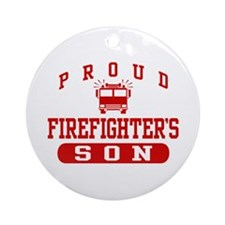 Proud Firefighter's Son Ornament (Round)