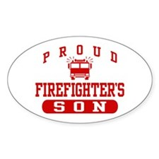 Proud Firefighter's Son Oval Decal