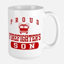 Proud Firefighter's Son Large Mug