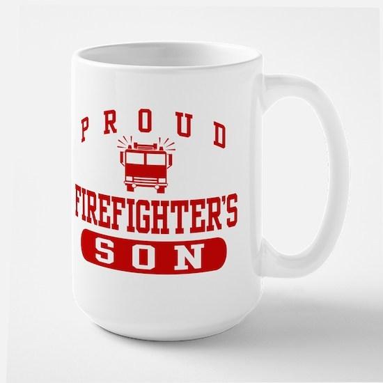 Proud Firefighter's Son Large Mug