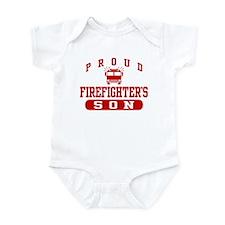 Proud Firefighter's Son Infant Bodysuit