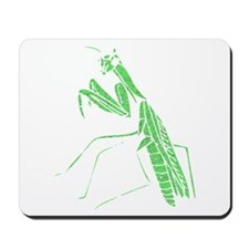 Distressed Green Preying Mantis Mousepad