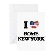 I love Rome New York Greeting Cards