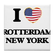 I love Rotterdam New York Tile Coaster