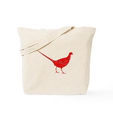 Distressed Red Pheasant Tote Bag