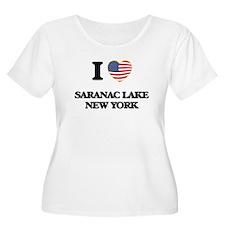 I love Saranac Lake New York Plus Size T-Shirt