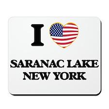 I love Saranac Lake New York Mousepad