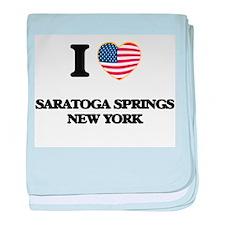 I love Saratoga Springs New York baby blanket
