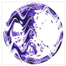Purple Marble Stain Poster