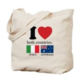 Italian australian Canvas Tote Bag