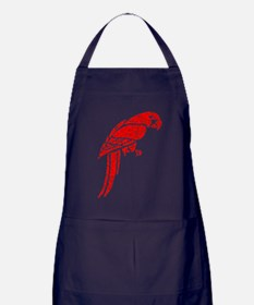 Distressed Red Parrot Apron (dark)