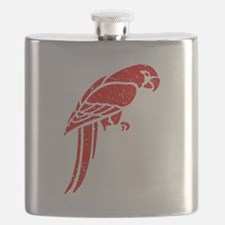 Distressed Red Parrot Flask