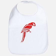 Distressed Red Parrot Bib