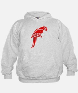 Distressed Red Parrot Hoodie