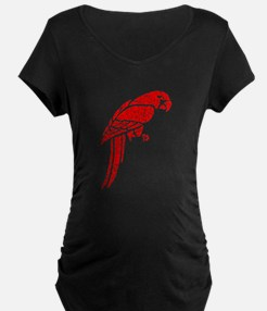 Distressed Red Parrot Maternity T-Shirt