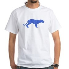 Distressed Blue Panther T-Shirt
