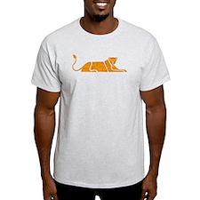 Distressed Orange Panther T-Shirt