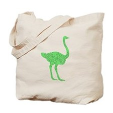 Distressed Green Ostrich Tote Bag