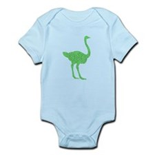 Distressed Green Ostrich Body Suit