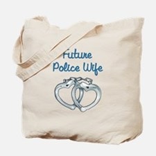 Cute Police officer girlfriend Tote Bag