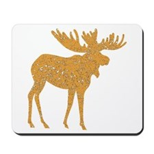 Distressed Brown Moose Mousepad