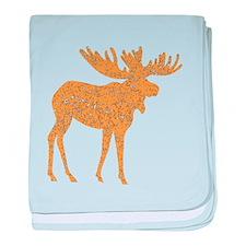 Distressed Brown Moose baby blanket