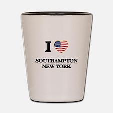 I love Southampton New York Shot Glass