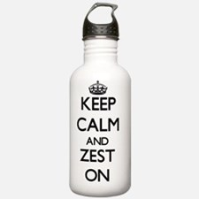 Keep Calm and Zest ON Water Bottle