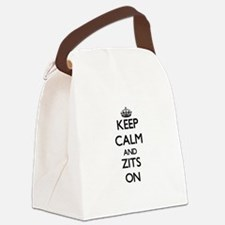 Keep Calm and Zits ON Canvas Lunch Bag