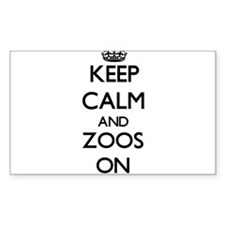 Keep Calm and Zoos ON Decal