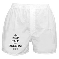 Keep Calm and Zucchini ON Boxer Shorts