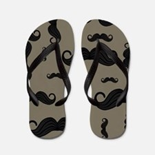 Cute Mustache Flip Flops