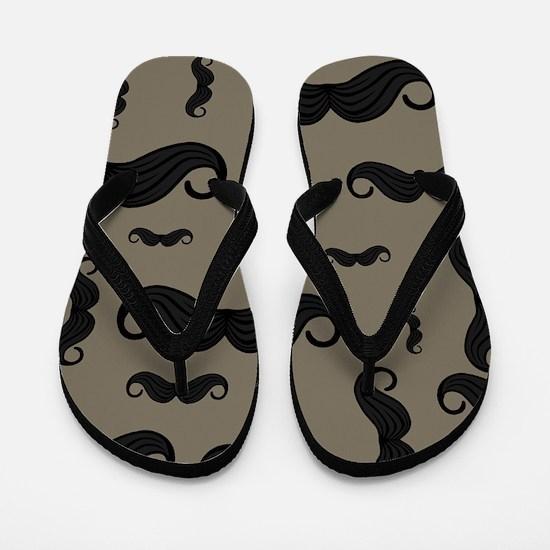 Cute Moustache Flip Flops