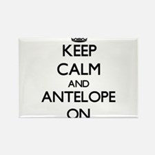 Keep Calm and Antelope ON Magnets