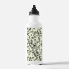 Cute 100 dollar bill Water Bottle