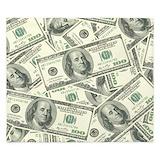 100 dollar bill pattern Luxe King Duvet Cover