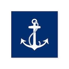 "Funny Anchors Square Sticker 3"" x 3"""