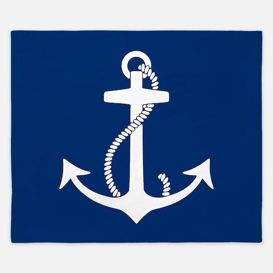 Cute Nautical King Duvet