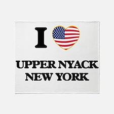 I love Upper Nyack New York Throw Blanket